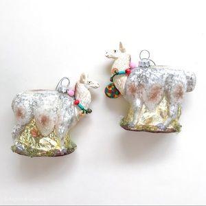 Whimsical Glass Llama Ornament